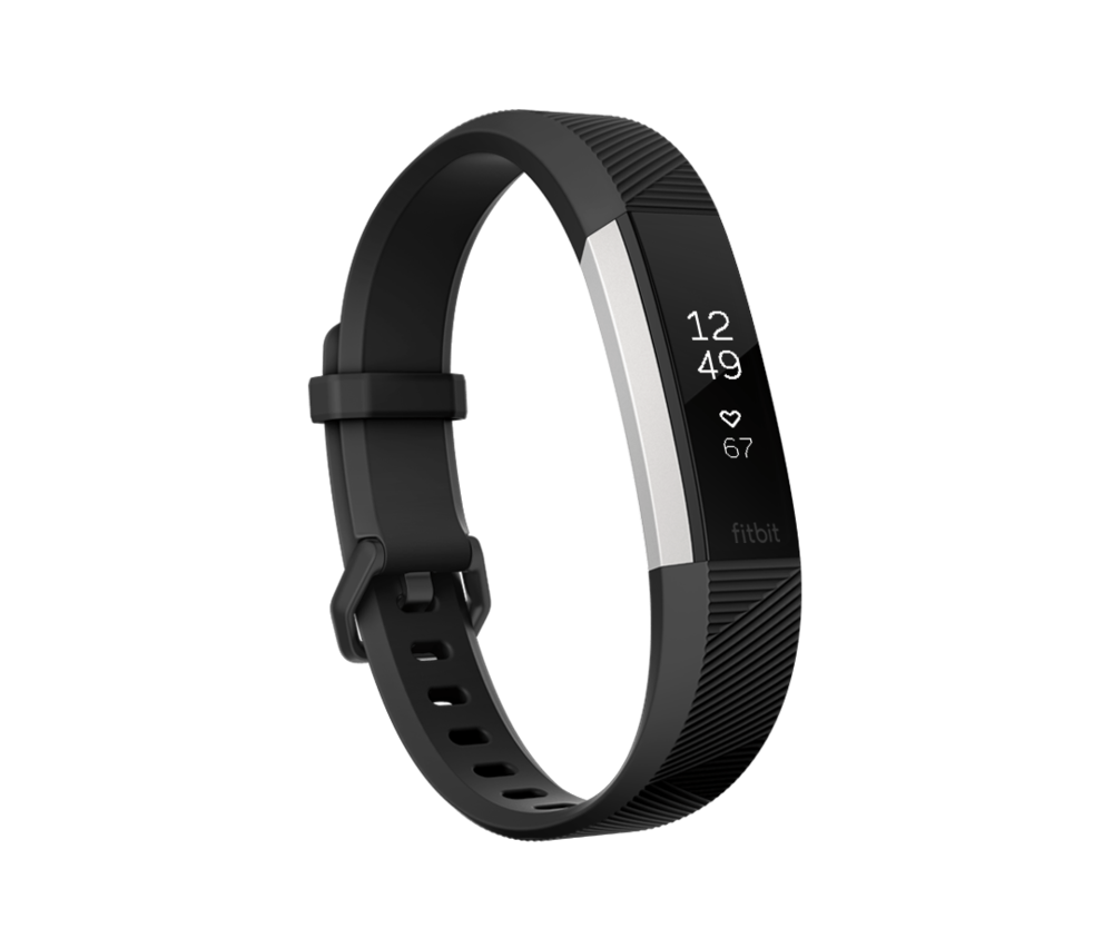 Modellen: Et sort Fitbit Alta HR  .    Image source: www.fitbit.com
