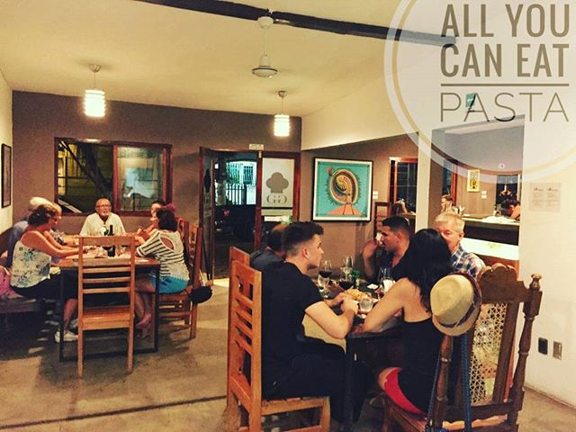 All You Can Eat Pasta - January 2017 #ggsanjuan #sanjuandelsur #nicaragua #restaurant #pasta