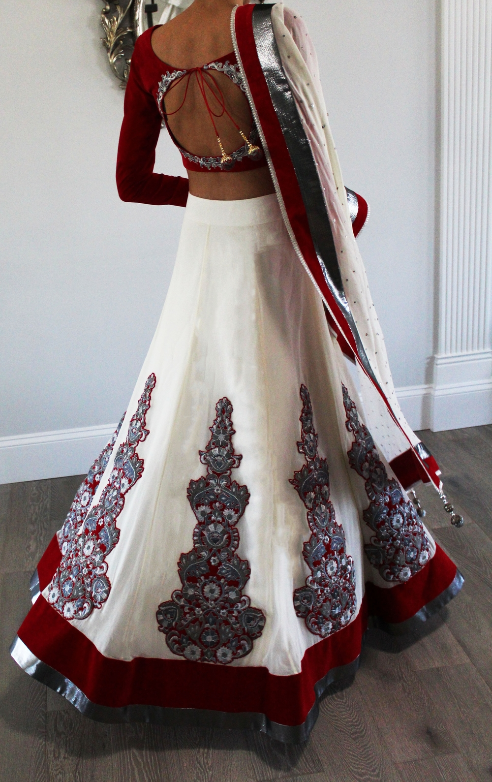 red and white lehenga back.jpg