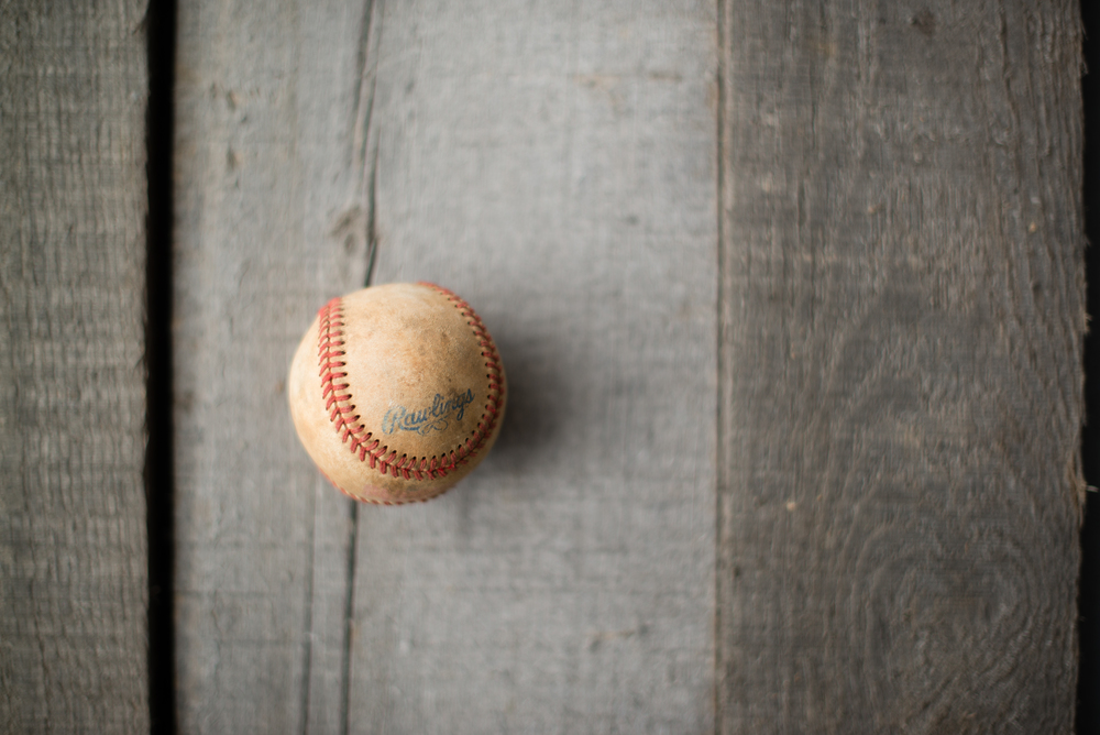 An ordinary baseball.
