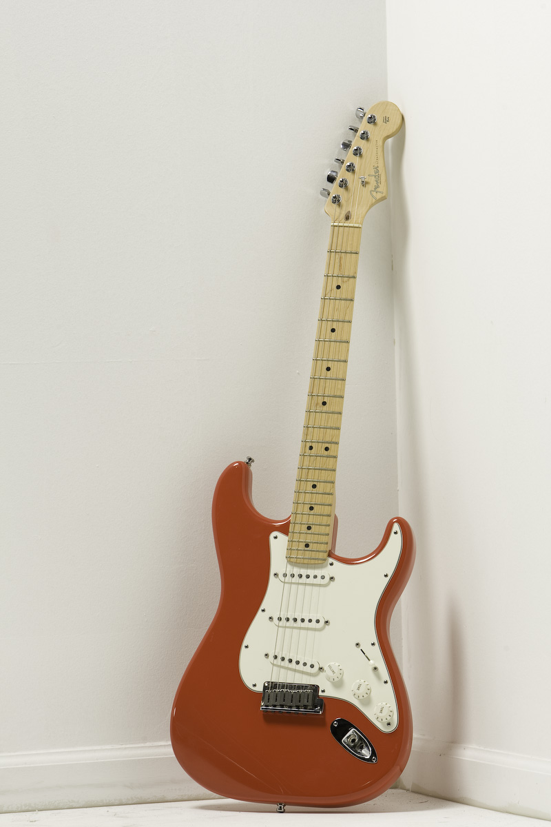 2002 Fender American Strat in Hot Rod Red