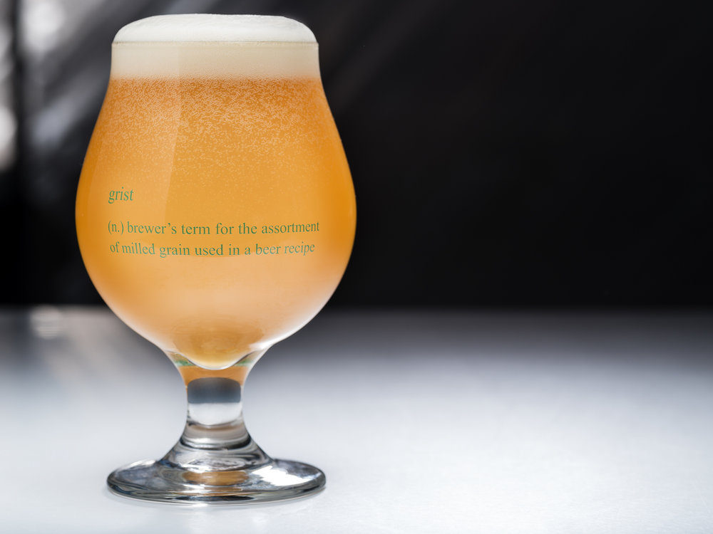 The back of the glass explains what a grist is. This is the inside baseball type stuff that makes Southern Grist a destination for beer lovers.