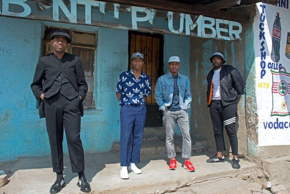 Johannesburg  : The Sartists (Wanda Lephoto, Xzavier Zulu, Kabelo Kungwane and Andile Buka)    Photographed by Victor Dlamini