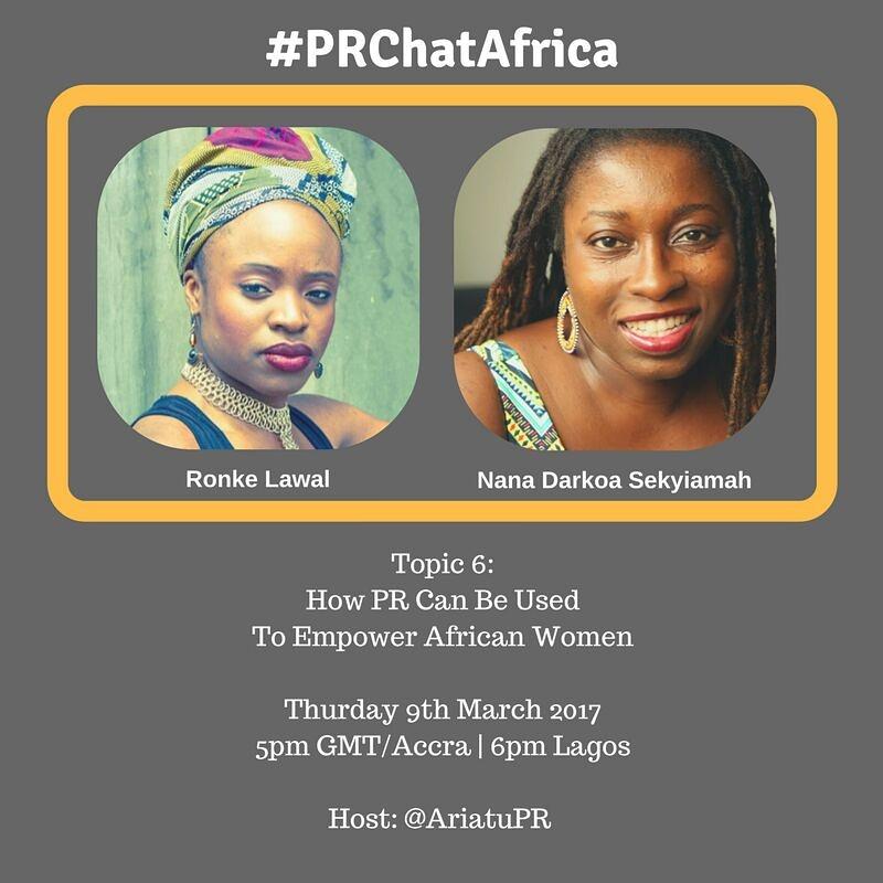 #PRChatAfrica
