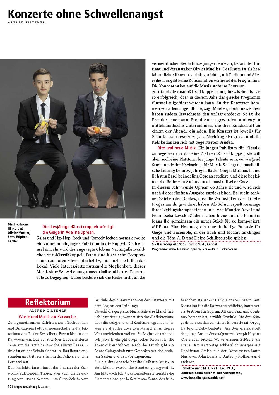 Klassikkuppel 2015 - Programmzeitung -