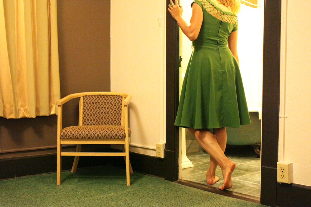 Self Portrait in Green Dress