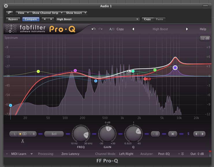 FabFilter Pro-Q is an allround EQ plug-in for mixing and mastering, with up to 24 bands and a gorgeous interface for easy and precise editing.