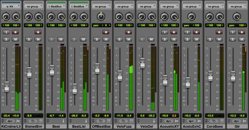 Leave enough headroom (at least -6dB) for the master bus