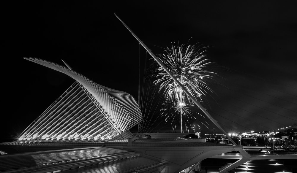 2nd plac - Calatrava with Festa Fireworks~Geri Laehn - Wehr Nature Center