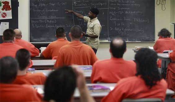 Education for prisoners is at their own expense through distance education courses or studies completed through the u.s. mail.
