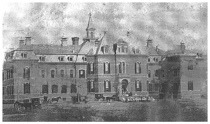 Indiana Women's Reformatory as seen in 1873. Photo courtesy of the Indiana State Library.