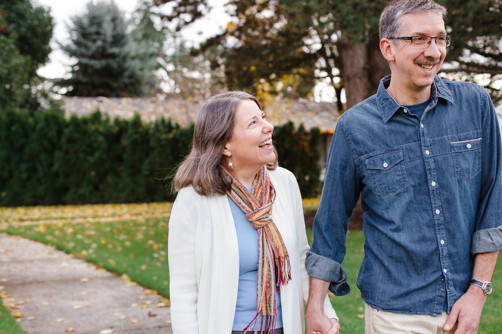 couple walking and having fun