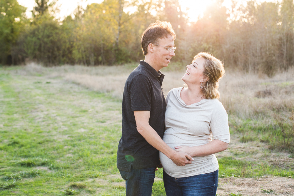cute couple during a maternity session