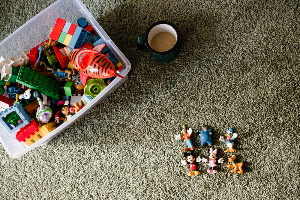 children toys in living room