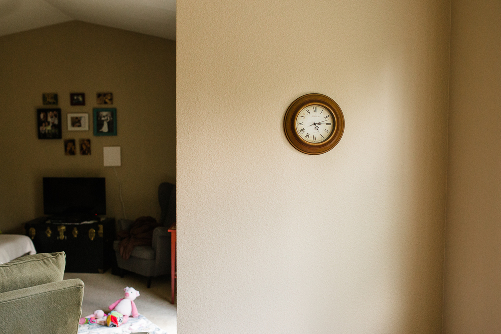 clock on the dining room wall