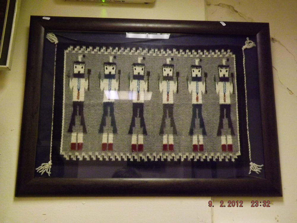 Framed Native American Fertility Blanket