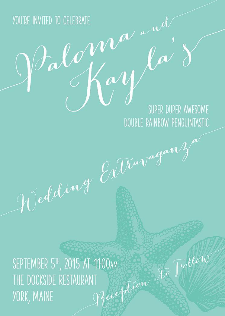 Palom & Kayla Wedding Invitation