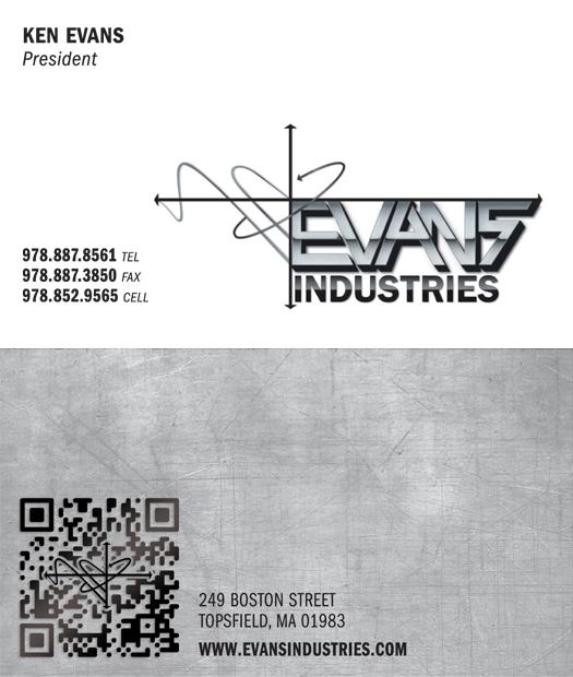 Evans Industries Logo & Business Card