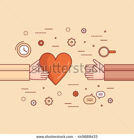 stock-vector-thin-line-flat-design-colorful-vector-illustration-concept-for-charity-donating-non-profit-445689433.jpg