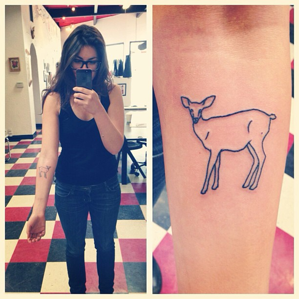 Got a tattoo of the first illustration I ever sold! Getting to be an artist is still a lifelong dream come true.