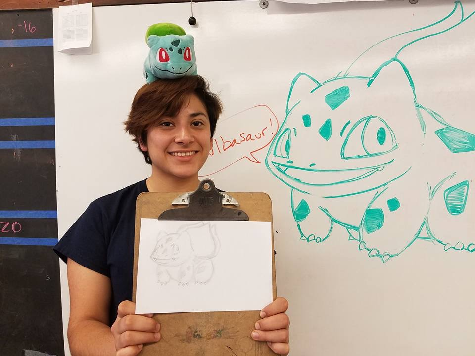 Bonus after school tutorial for her two helping students and her. Featuring Bulbasaur!