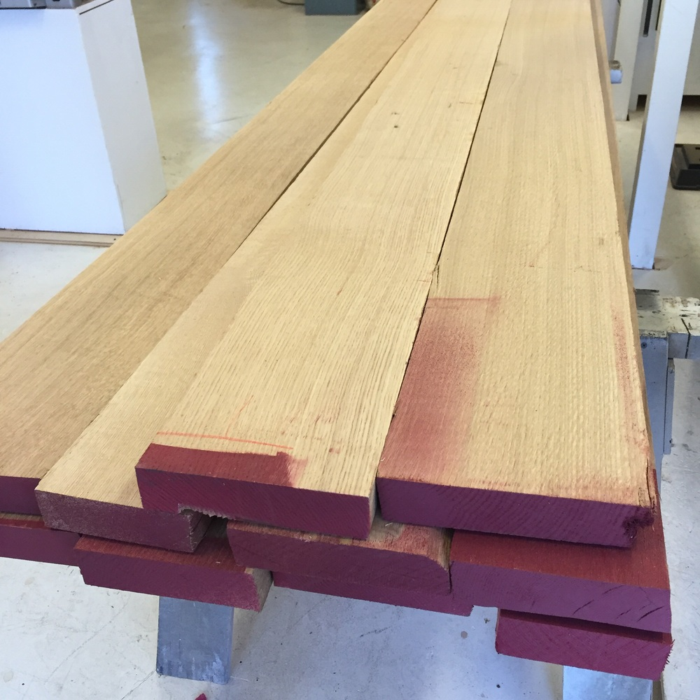116 board feet of 8/4 rift sawn white oak
