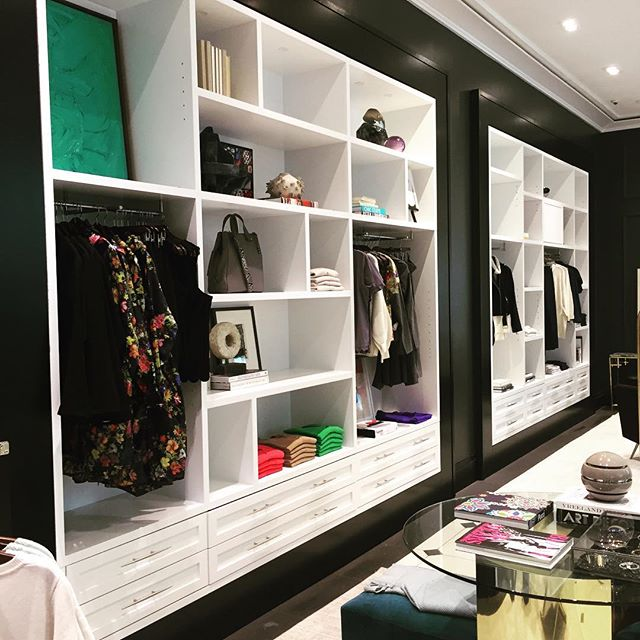 The display cabinets we installed as mentioned in the previous post. The drama of scale. #bananarepublic #oliviapalermo
