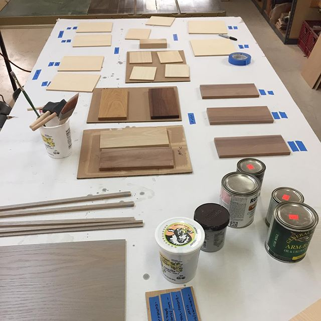 Samples, samples, samples. Practice, practice, practice. The science and the art of interesting finishes. #bornandbuilt