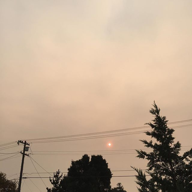 The sunrise through the smoke of the Camp Fire, 150 miles away.
