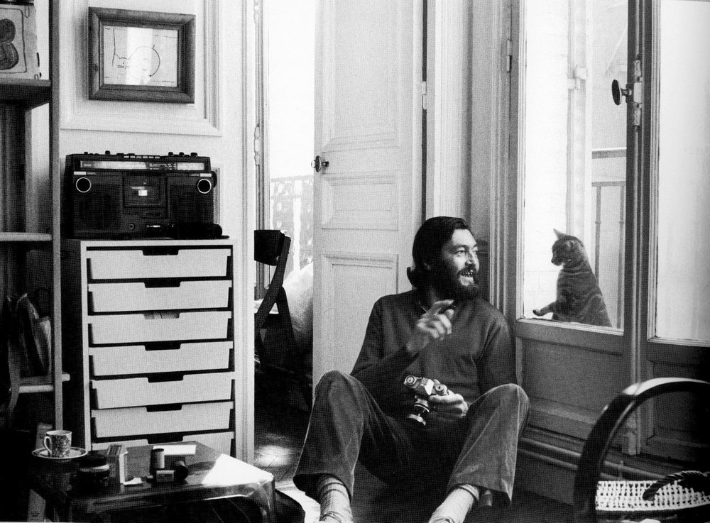 julio cortázar WITH CAT