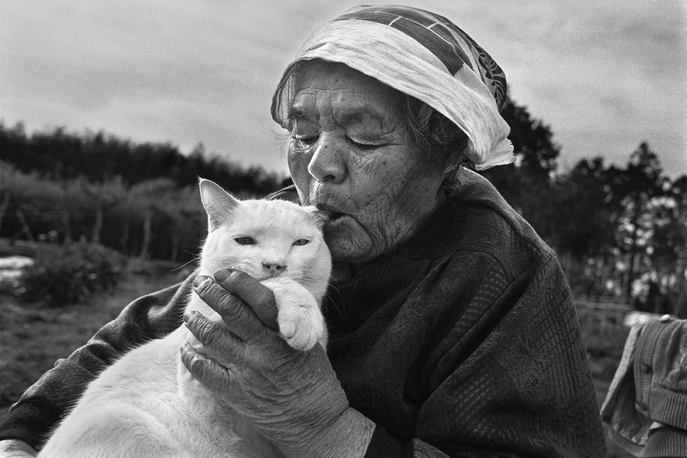 grandma with cat