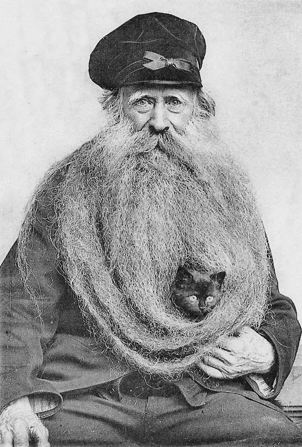 beard with cat