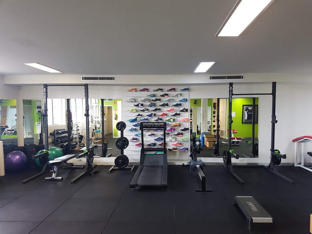 - Fully equipped gym for your rehabilitation, strength and conditioning training. We offer program design, one on one training and group training in our strength and conditioning gym delivered by highly qualified Physiotherapists and Exercise Physiologists.
