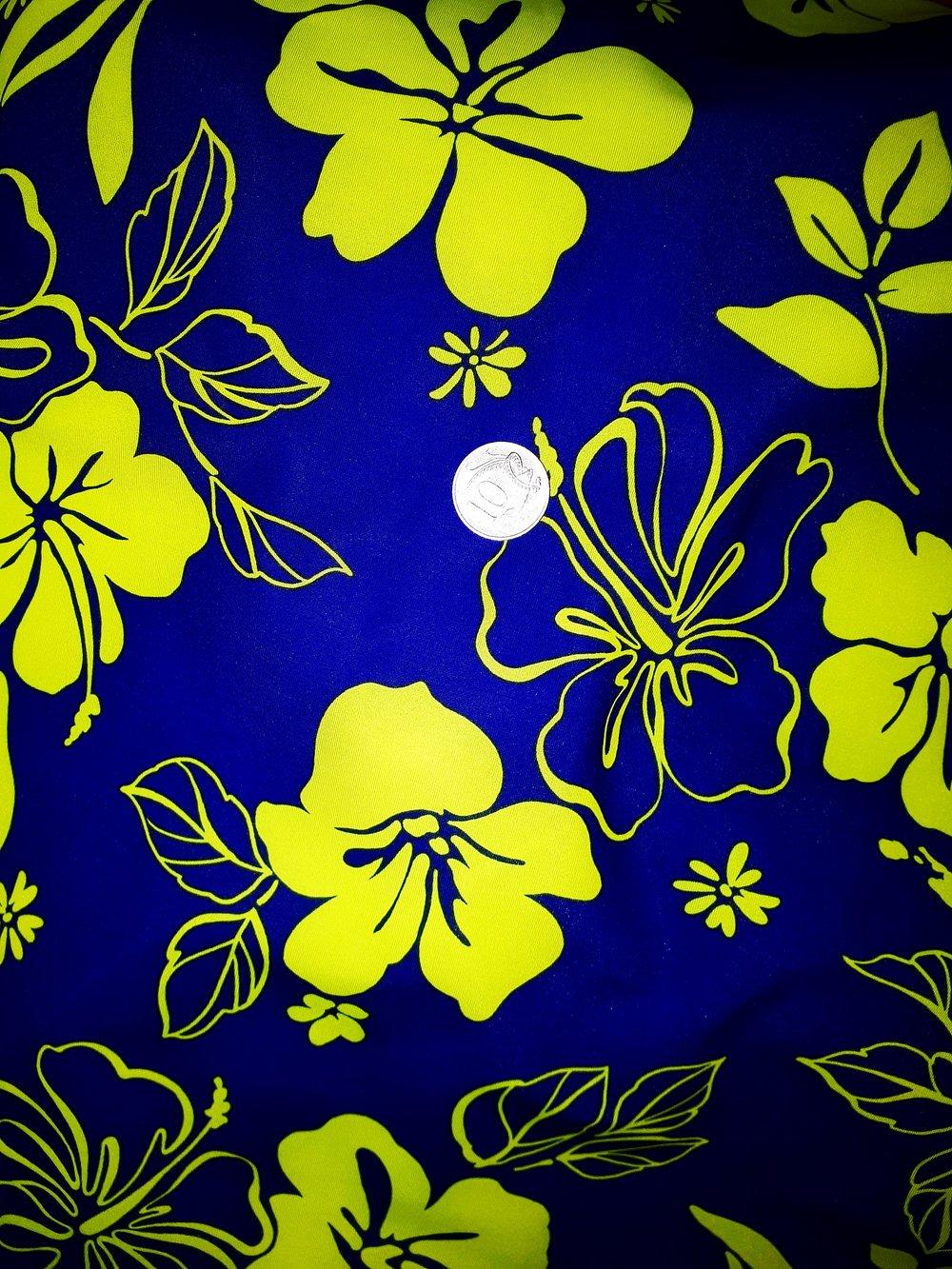 Blue/Green Hibiscus