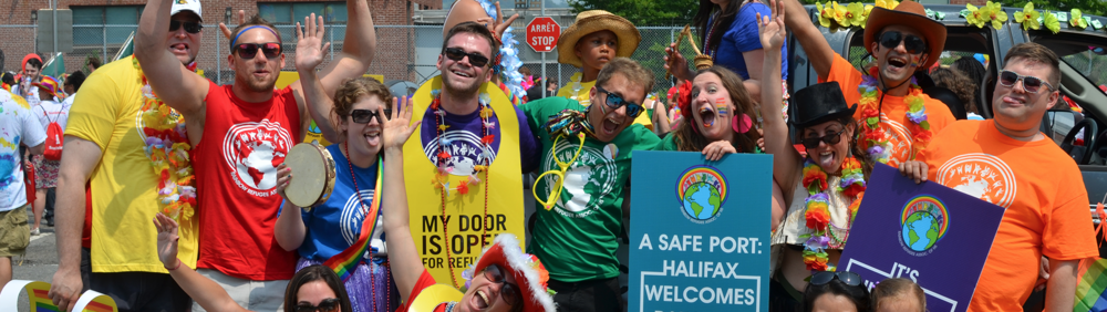 Members of Rainbow Refugee Association of Nova Scotia during 2014's Halifax Pride Parade.
