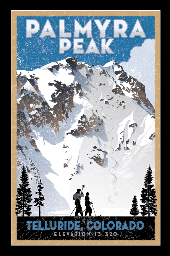 Limited Edition Print of the highest ski run in Telluride. Gotta earn your turns on this one.