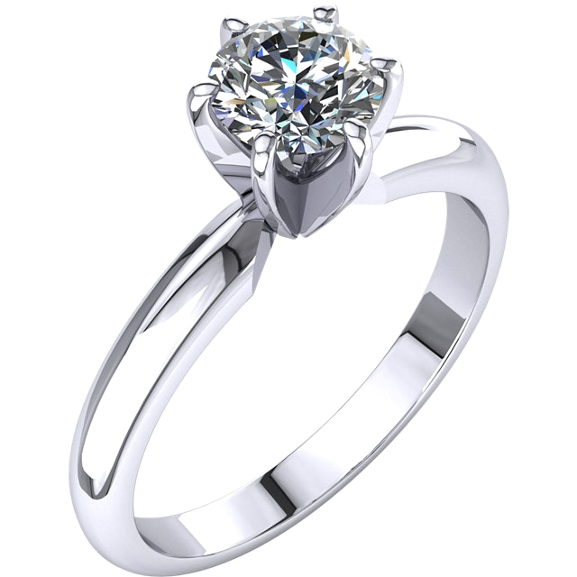 Diamond Round 3/4 CT Solitaire Engagement Ring