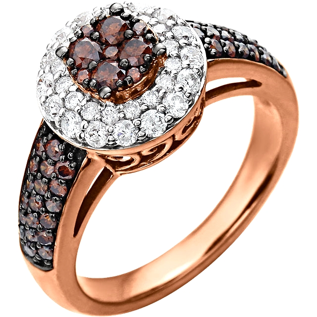 14K Rose Gold 1.18 CTW Engagement Ring
