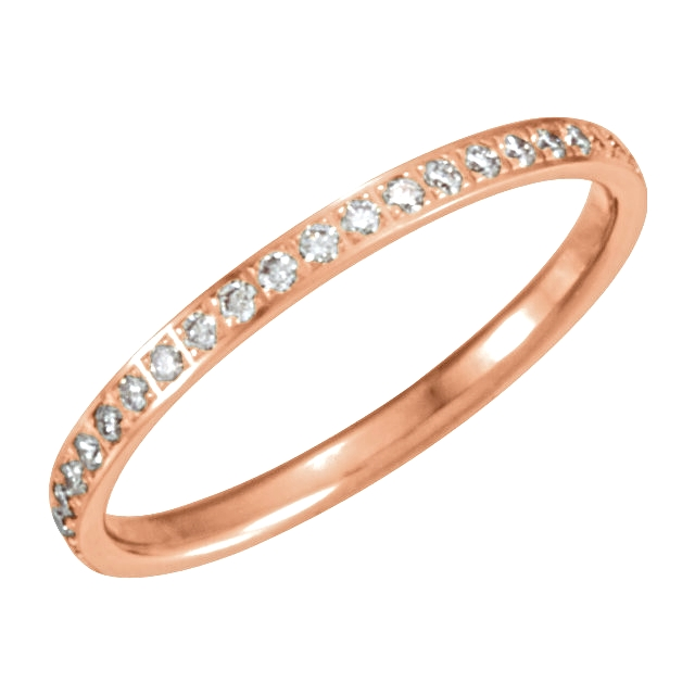 14kt Rose 1/4 CTW Diamond Eternity Band