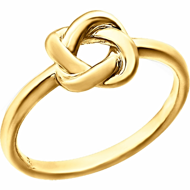 14kt Yellow Knot Design Ring