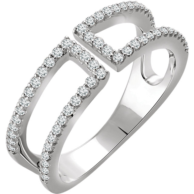 14kt White 13 CTW Diamond Ring