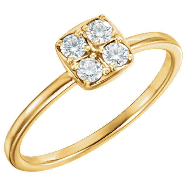 14kt Yellow 14 CTW Diamond Stackable Ring