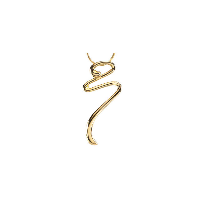 Gold Fashion Pendant on an 18 Snake Chain