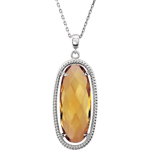 Oval Honey Quartz