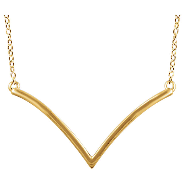 V Neclace in Gold or Rose Gold