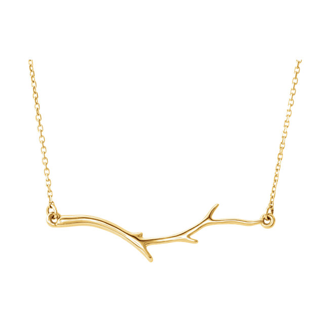 Yellow Branch Neckalce