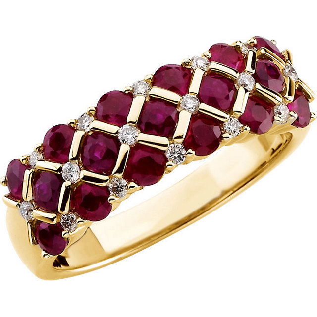 4kt Yellow 16 CTW Diamond Semi-Mount Ring