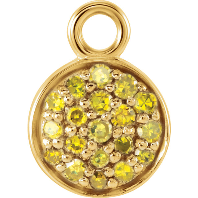 14kt Yellow 110 CTW Yellow Diamond Dangle
