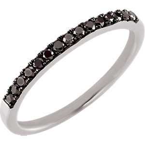 14kt White 15 CTW Black Diamond Band