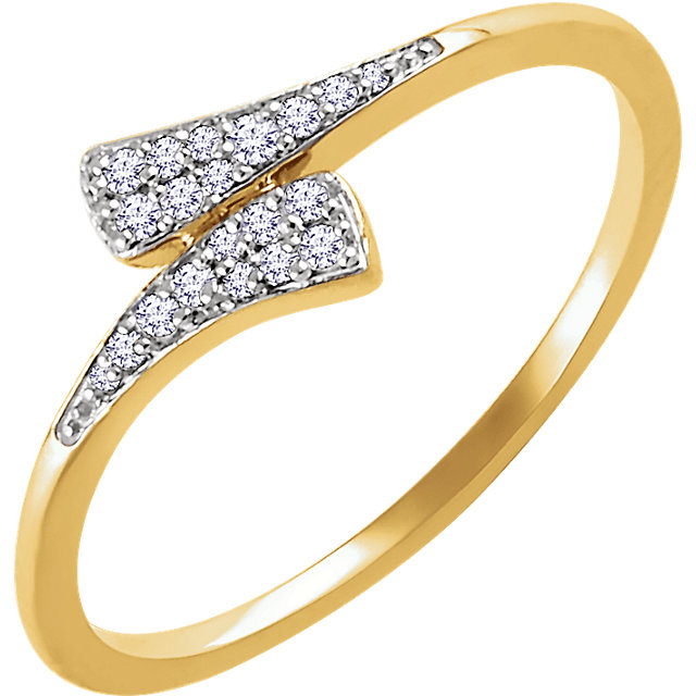 14kt Yellow 110 CTW Diamond Ring
